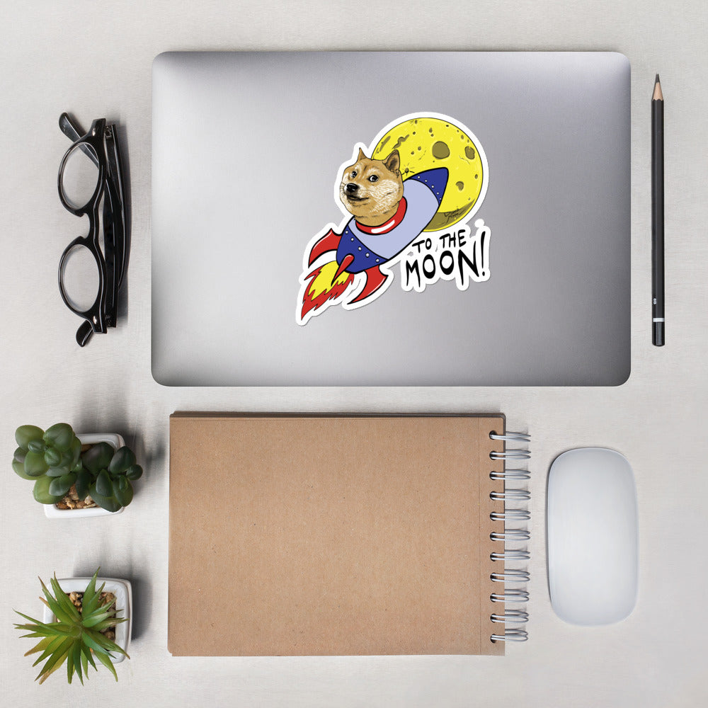 Doge To The Moon Vinyl Stickers