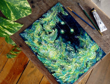 "Load image into Gallery viewer, ""Mother Star Crescent"" Original Painting"