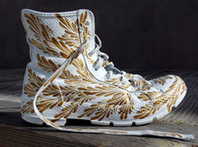 "Load image into Gallery viewer, ""Golden Rhythm"" Decorative Shoe"