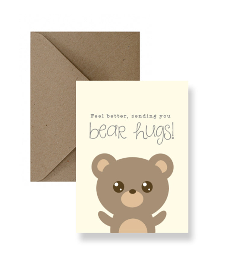 Feel Better Bear Hugs Card | Greeting Cards | Gift Spawt