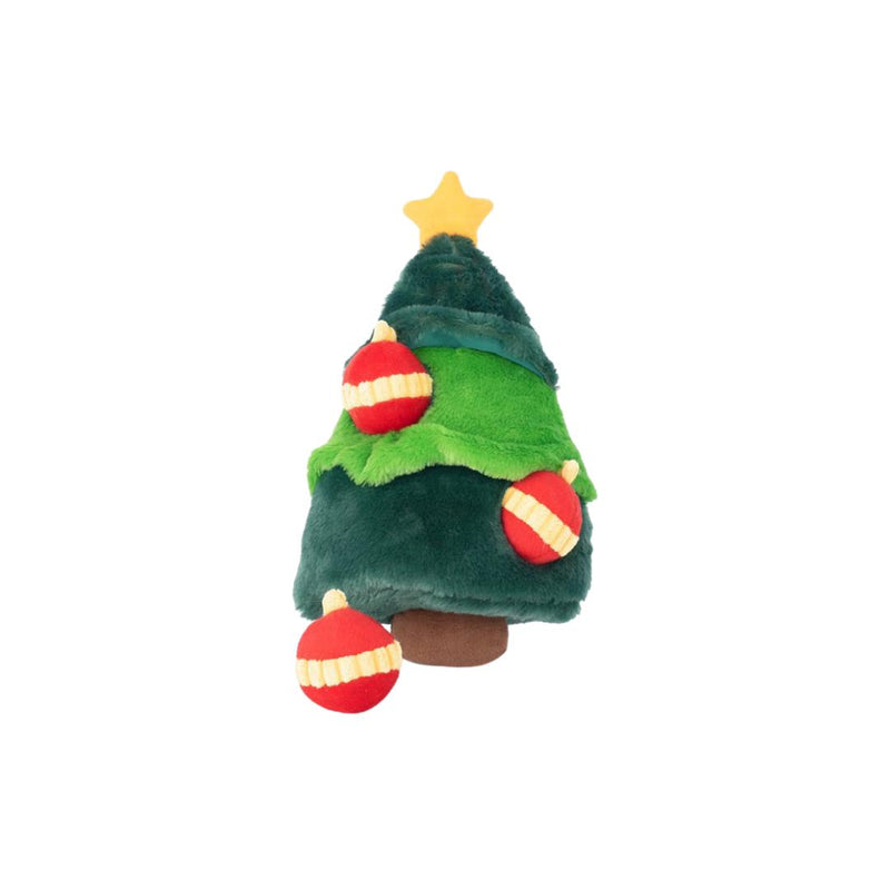 Holiday Zippy Burrow - Christmas Tree-Plush Dog Toy-Gift Spawt