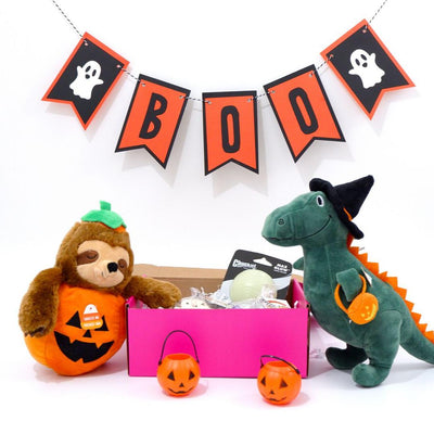 Happy Howl-O-Ween Gift Set (Sloth-O-Lantern)-Puppy Care Package-Gift Spawt