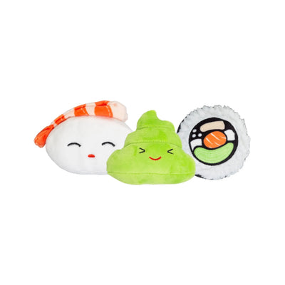 Sushi Bento Dog Toy (Set of 3)-Plush Dog Toy-Gift Spawt