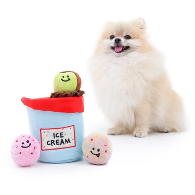 Interactive Ice Cream Dog Toy-Plush Dog Toy-Gift Spawt