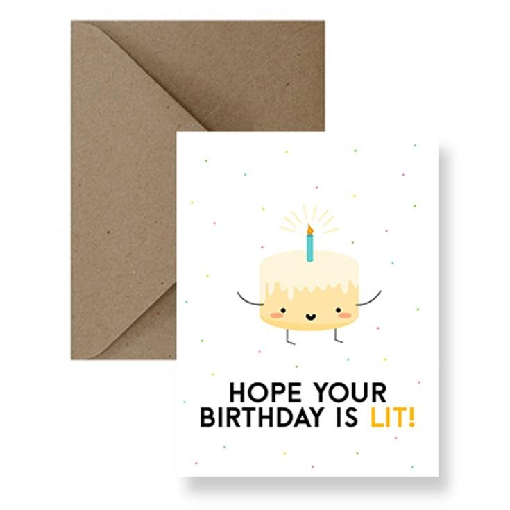 Lit Birthday Card | Greeting Cards | Gift Spawt