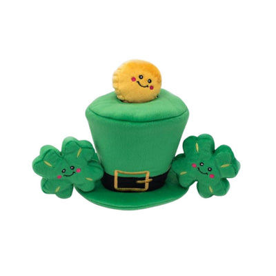 St. Patrick's Burrow - Leprechaun Hat-Plush Dog Toy-Gift Spawt