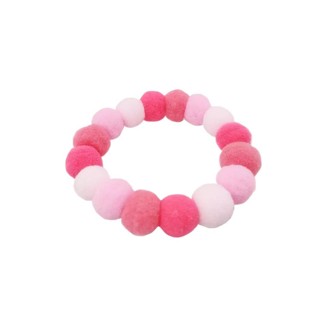 Pink Pom Pom Dog Necklace-Add-On-Gift Spawt