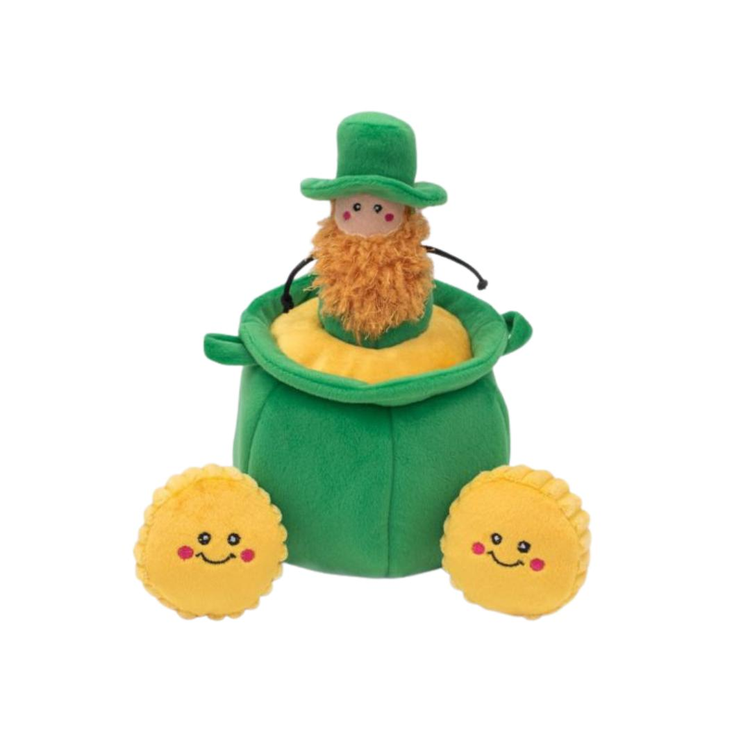 St. Patrick's Burrow - Pot of Gold-Plush Dog Toy-Gift Spawt