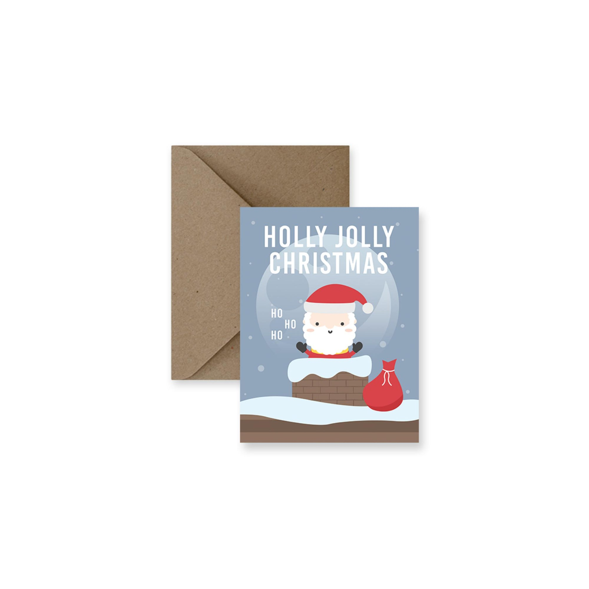 Holly Jolly Christmas Greeting Card-Greeting Card-Gift Spawt