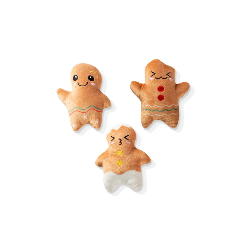 Mini Gingerbread Toy Set (Set of 3)-Plush Dog Toy-Gift Spawt