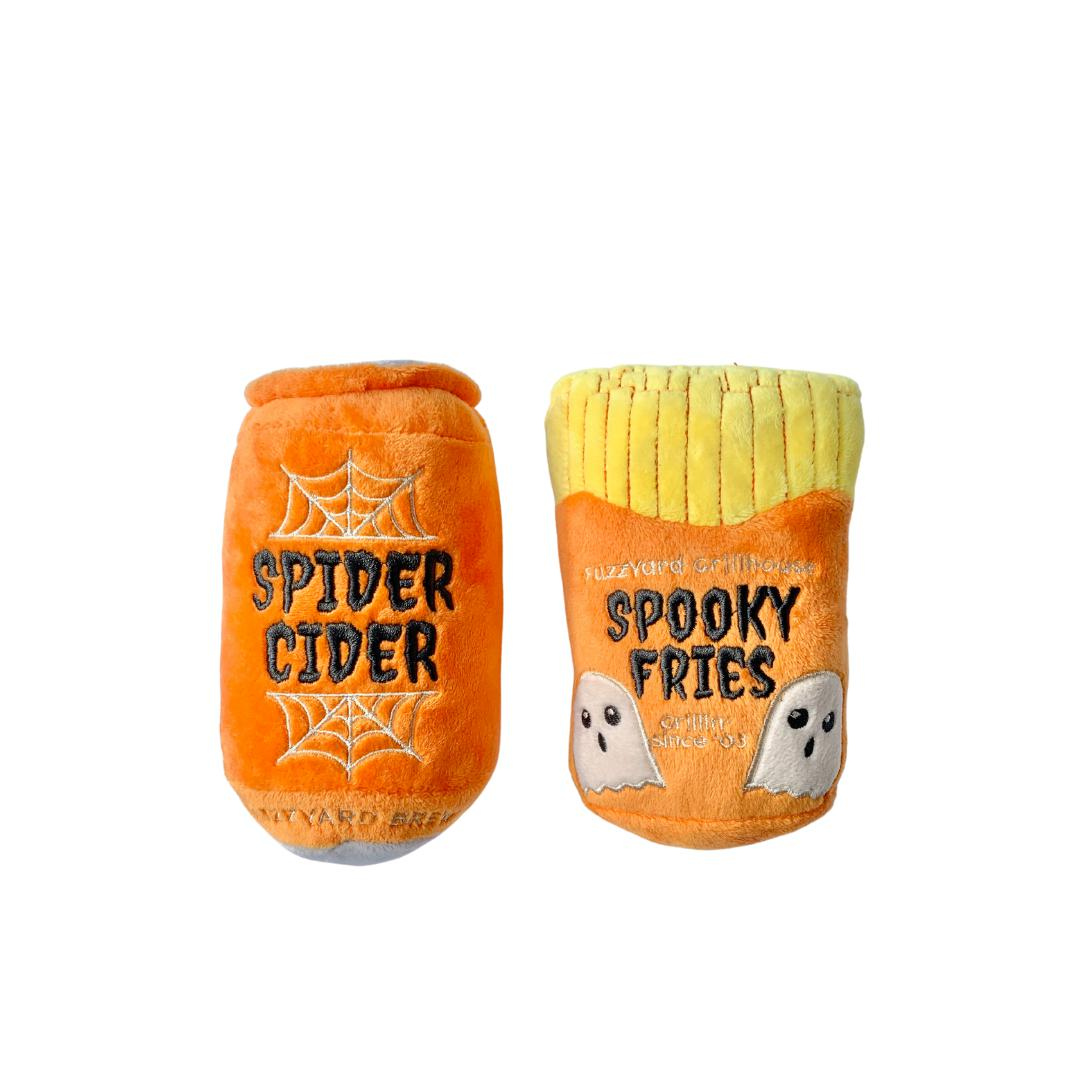 Spider Cider and Spooky Fries Toy Set-Plush Dog Toy-Gift Spawt