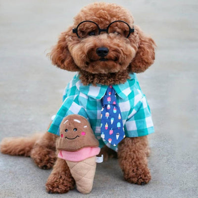 NomNomz Ice Cream Cone-Plush Dog Toy-Gift Spawt