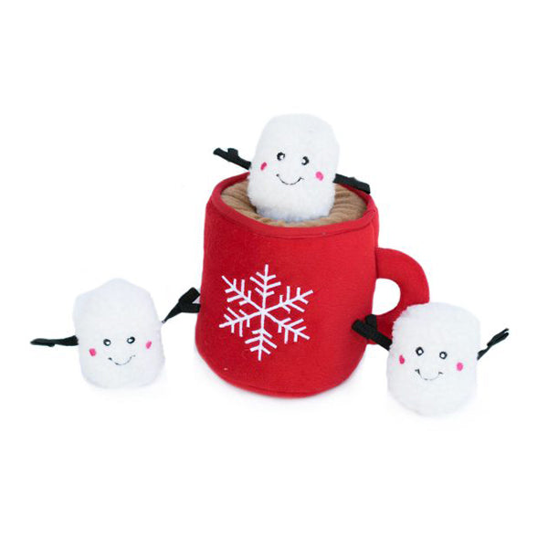 Holiday Zippy Burrow - Hot Chocolate-Plush Dog Toy-Gift Spawt