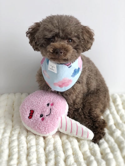 Squeakie Cotton Candy Dog Toy