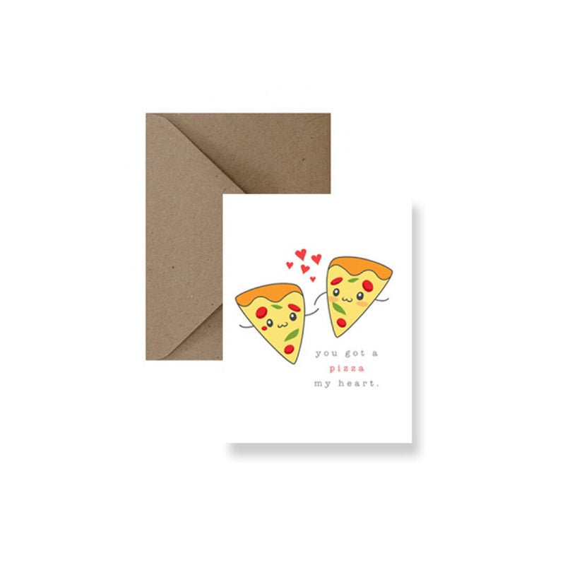 Pizza My Heart Valentine's Card-Greeting Card-Gift Spawt