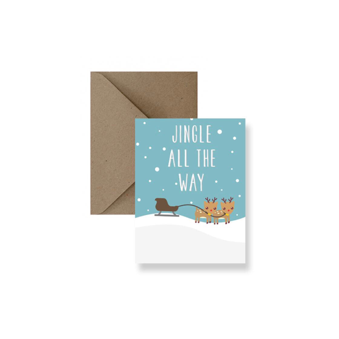Jingle All the Way Greeting Card-Greeting Card-Gift Spawt