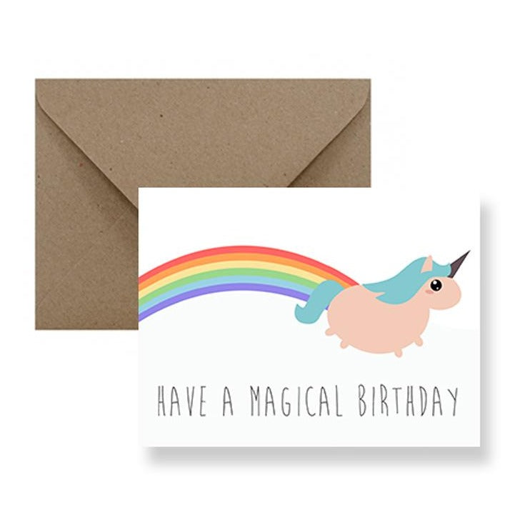 Magical Unicorn Birthday Card | Greeting Cards | Gift Spawt