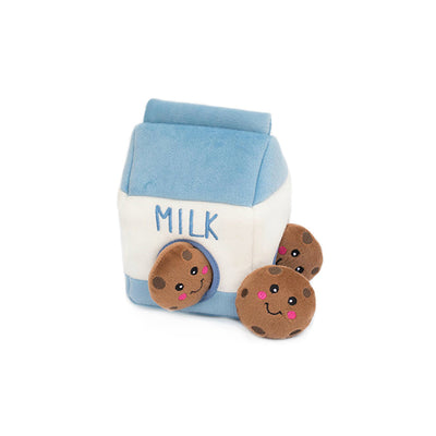 Milk and Cookies Burrow Dog Toy | Plush Dog Toys | Gift Spawt