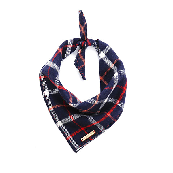 Oxford Plaid Flannel Bandana-Bandana-Gift Spawt