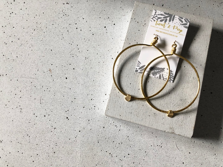 Hammered Hoops Earring Set