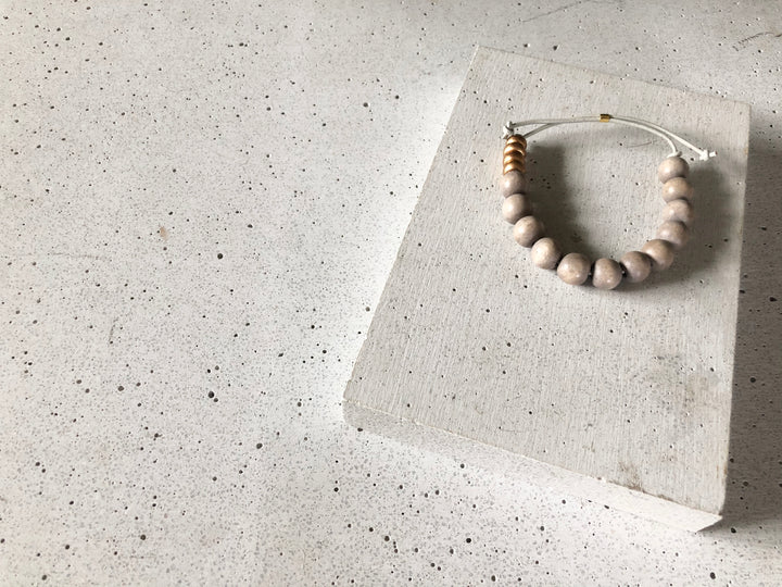 The Grey Beaded Bracelet