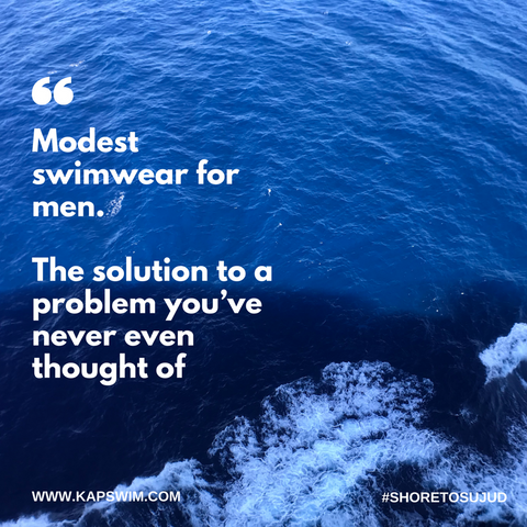Modest swimwear for men, halal swimwear, burkini