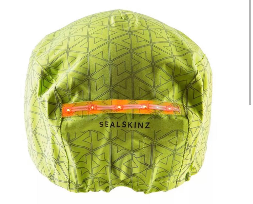SEALSKINZ Halo Waterproof LED Helmet Cover Yellow