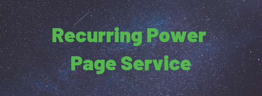 Recurring Power Page Writing Service