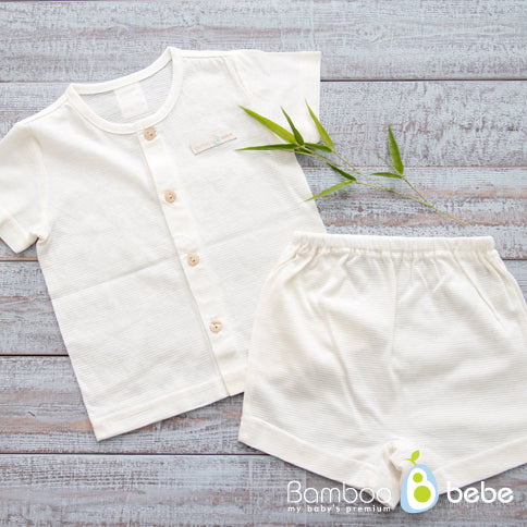 솔솔 반팔 내의 <br /> Bamboo Solsol Summer Newborn Shortsleeve Underwear Set