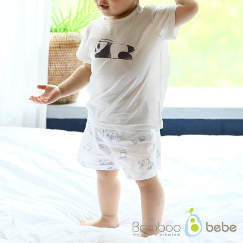 솔솔 팬더 반팔 내의 세트 <br /> Mild Bamboo Solsol Panda Short-sleeves Underwear Set