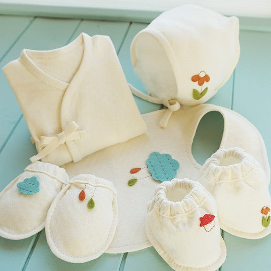 오가닉 Cloud Village 배냇저고리만들기 5종세트 <br /> Organic Clour Village Swaddling Clothes 5pcs DIY Kit