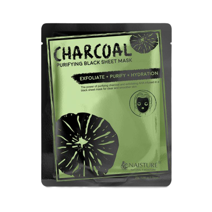 Charcoal Purifying Black Sheet Mask - Mascarilla de carbón activado