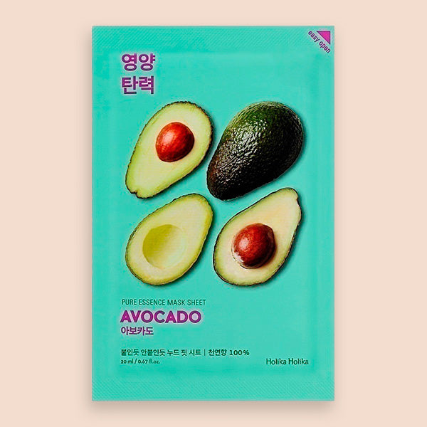 Holika Holika Pure Essence Mask Sheet Avocado - Mascarilla Facial