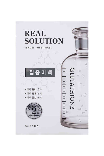 REAL SOLUTION TENCEL SHEET MASK-WHITENING
