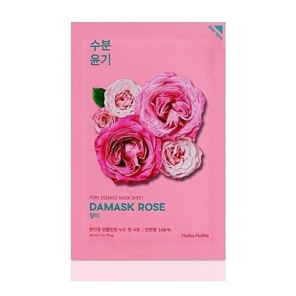 Holika Holika Pure Essence Mask Sheet-Damask Rose / Mascarilla Facial