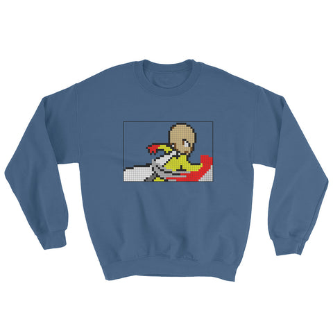 8-Bit One Punch Man Punch Sweatshirt - GeekGarments