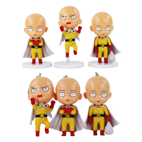 3 One Punch Man Mini Figures / Keyrings - GeekGarments