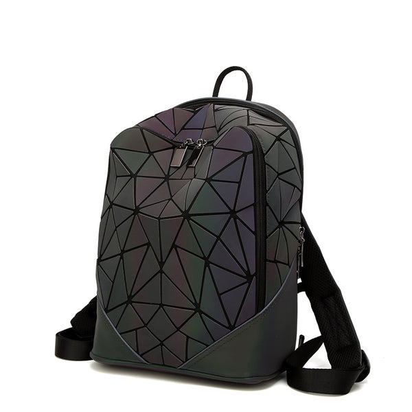 Black Geometric Luminous Bag - GeekGarments
