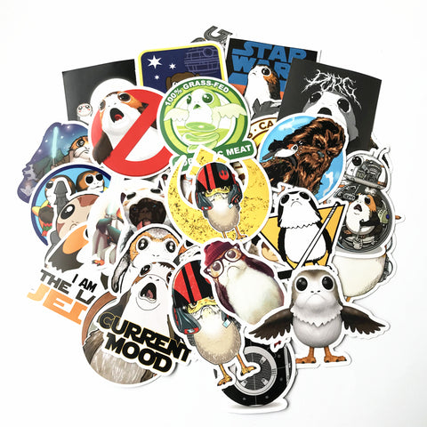 FREE 40 Porg Stickers - GeekGarments
