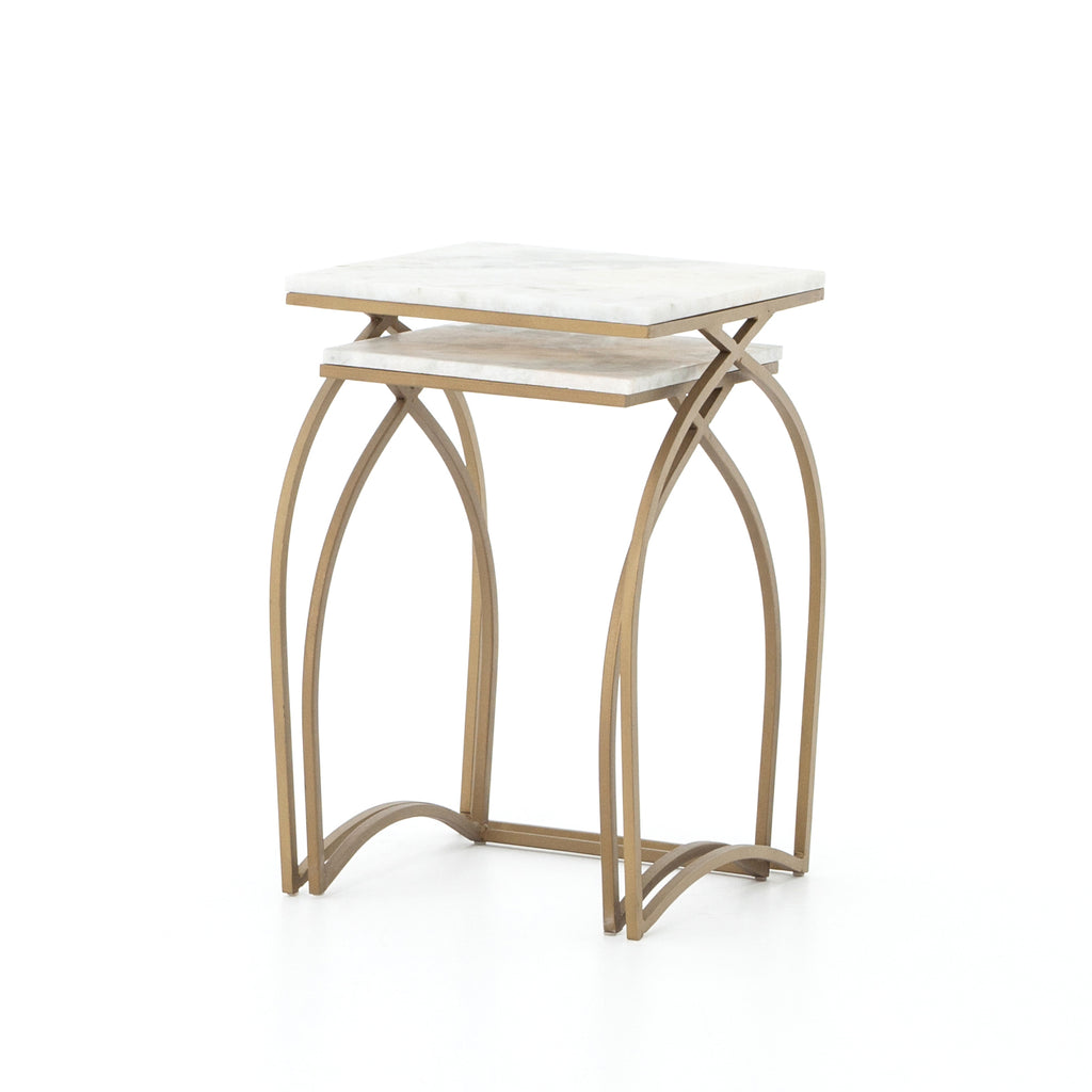 EVER NESTING TABLES-MATTE BRASS