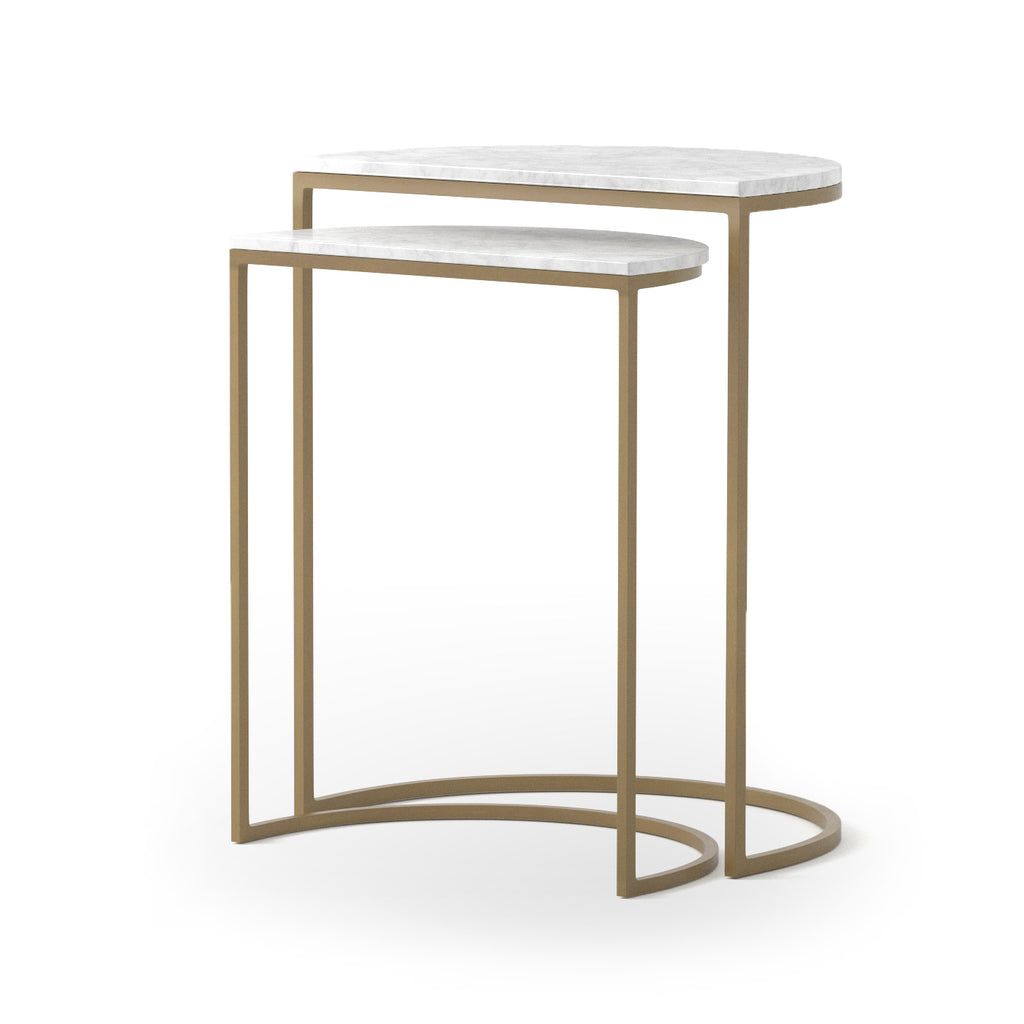 ANE NESTING TABLES-MATTE BRASS