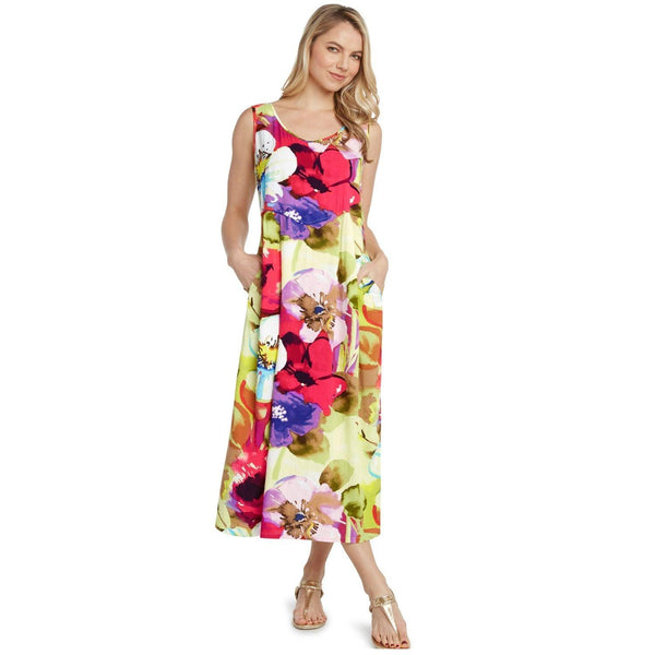Janice Dress - Flower Splash - jamsworld.com