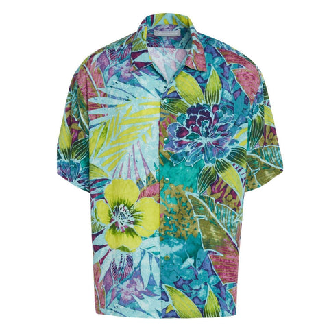 Men's Retro Shirt - Rain Tropic