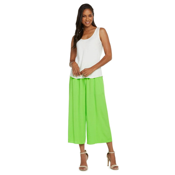 Solid Wide Leg Crop - Wasabi - jamsworld.com