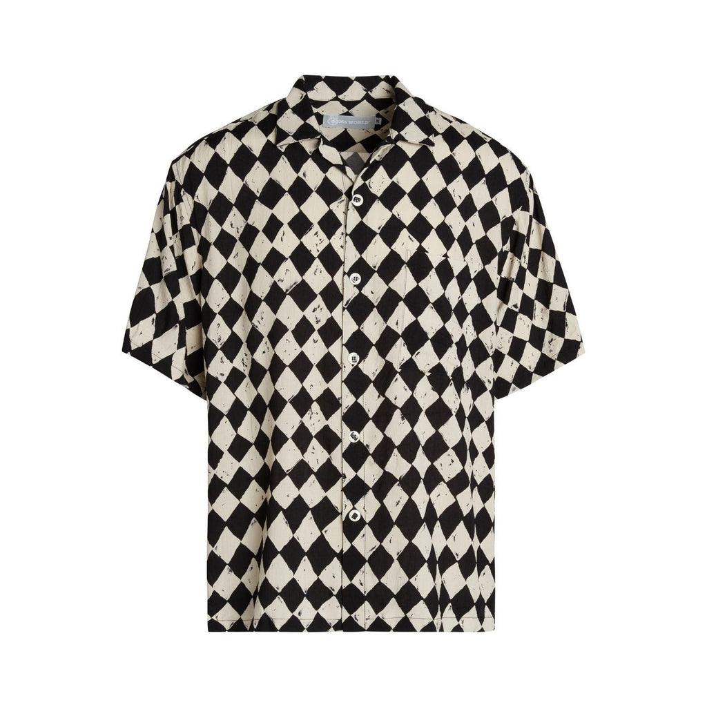 Men's Retro Shirt - Diamond Check - jamsworld.com