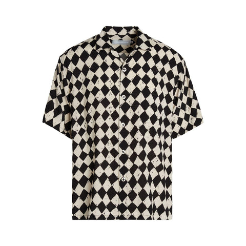 Men's Retro Shirt - Diamond Check