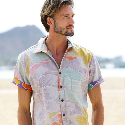 Men's Archival Collection Modern Fit Shirt - Dragonfly Purple Reverse - jamsworld.com