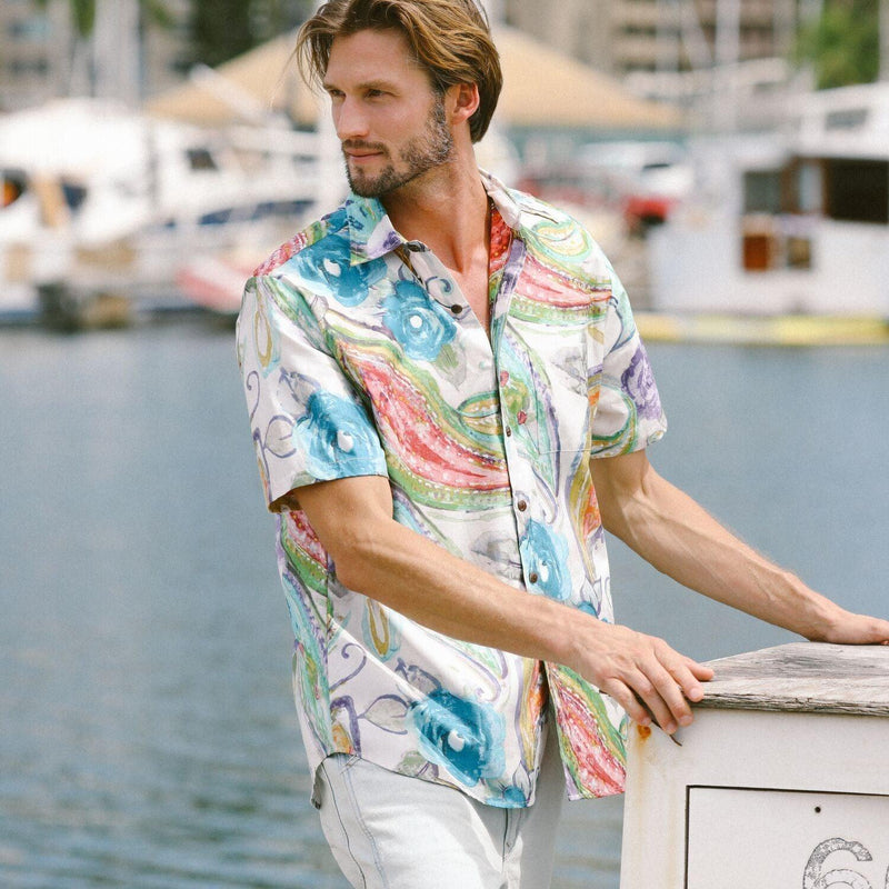 Men's Archival Collection Modern Fit Shirt - Opal Reverse - jamsworld.com