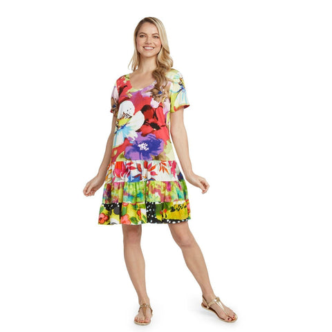 Hattie Dress - Flower Splash