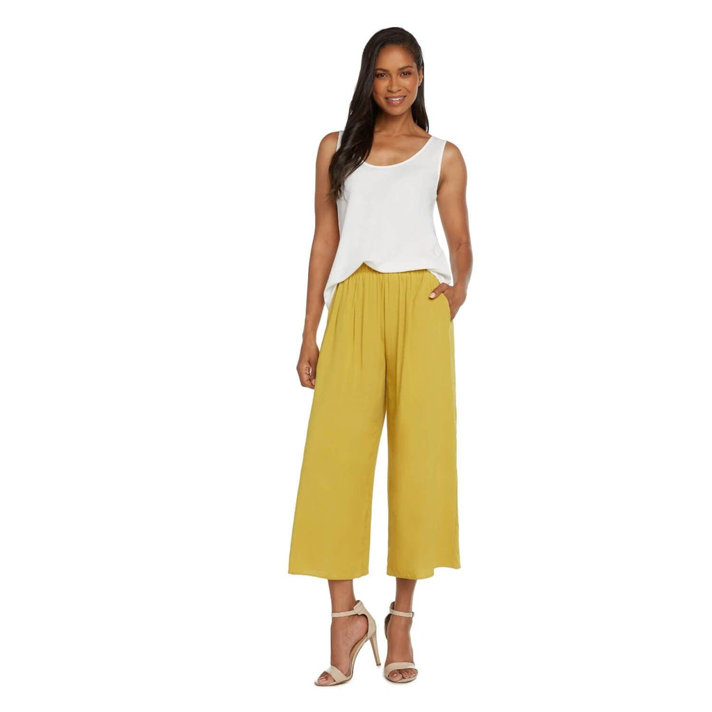 Solid Wide Leg Crop - Gold - jamsworld.com
